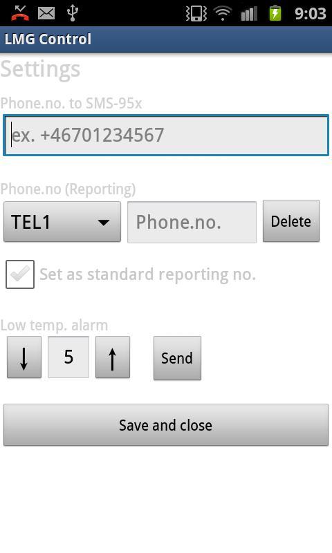 LMG Control- screenshot