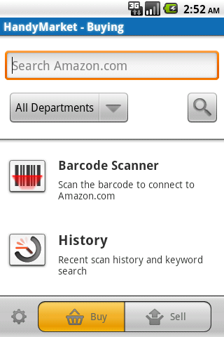 HandyMarket Barcode Scanner - screenshot