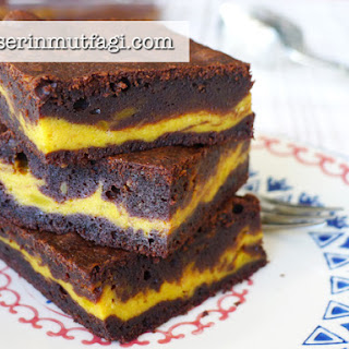 Pumpkin Cheesecake Brownie