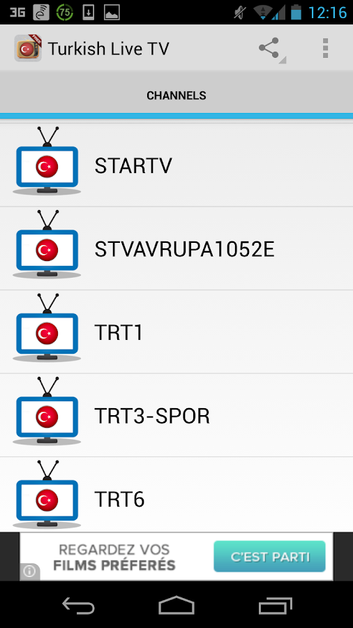 Turkey TV Live Free HD - screenshot