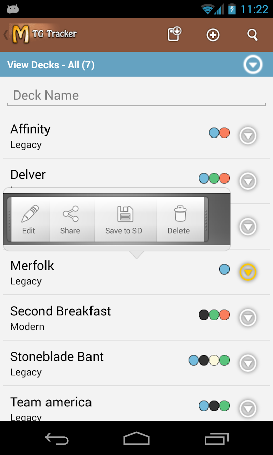 MtG Tracker & Life Counter - screenshot
