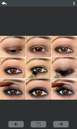 Eyes makeup step by step 1