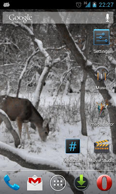 Winter Deer Live Wallpaper - screenshot