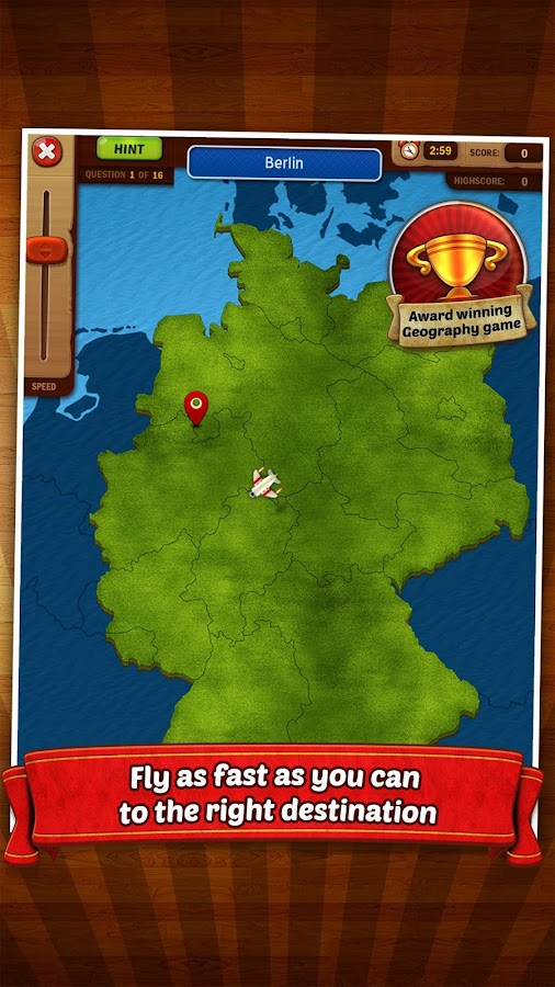 GeoFlight Germany: Geography- screenshot