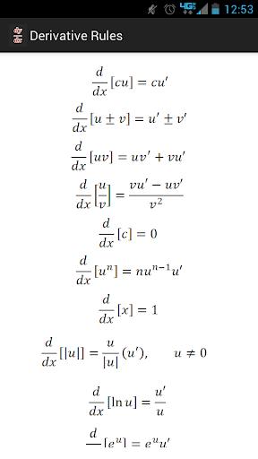 Derivative List