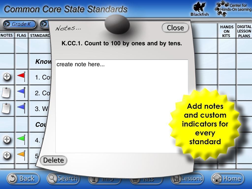 Common Core State Standards- screenshot