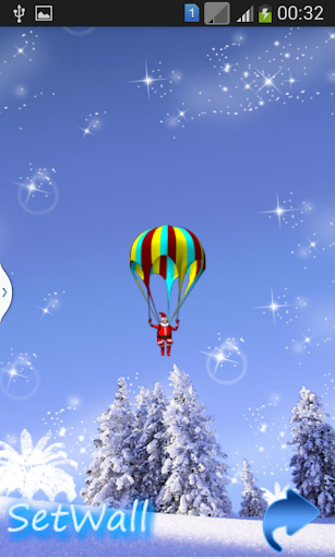 Santa Parachute Magic Fall