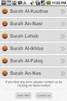 Screenshot of Quran Recitation Urdu Trans.