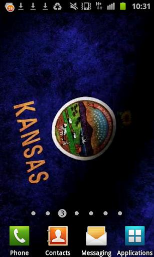 Kansas Flag Live Wallpaper