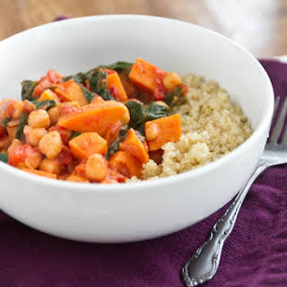 Sweet Potato and Chickpea Stew with Quinoa.