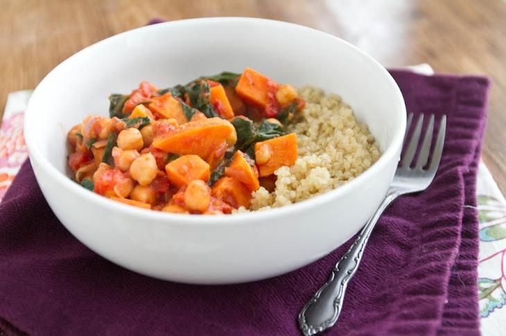 Sweet Potato and Chickpea Stew with Quinoa Recipe