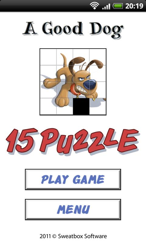 A Good Dog - 15 Puzzle- screenshot