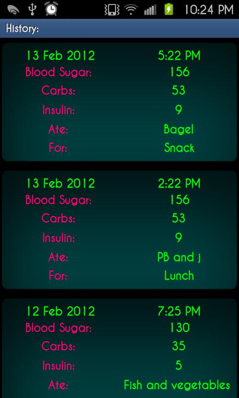 D.O.T. Beta (Insulin Calc) - screenshot
