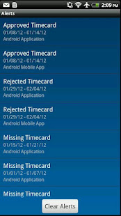 screenshot image - Time Card App For Android