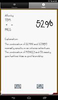 Screenshot of Love % - Compatibility Test