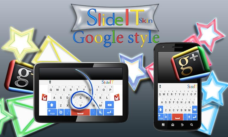 SlideIT Google Skin - screenshot