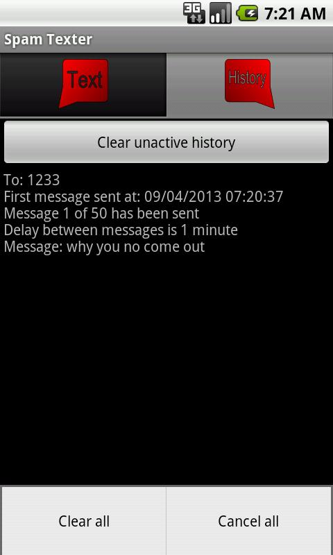 Spam Texter - screenshot