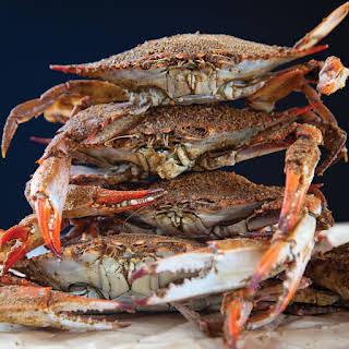 Steamed Blue Crabs.