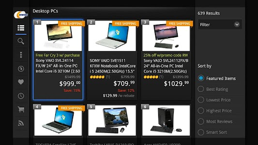 Newegg for Google TV screenshot 18