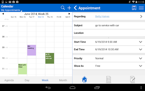 Resco Mobile CRM for Dynamics- screenshot thumbnail