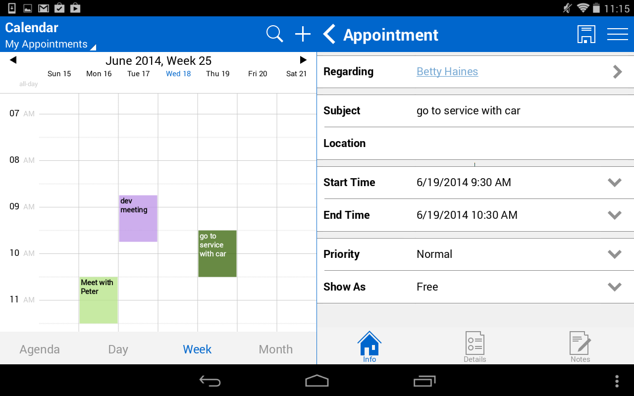 Resco Mobile CRM for Dynamics- screenshot