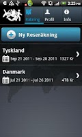 Screenshot of Reseräkning