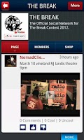 Screenshot of The Break social by YuuZoo