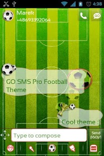 GO SMS Pro Football Theme- screenshot thumbnail
