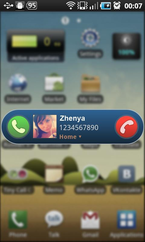Tiny Call Confirm - screenshot