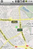 Screenshot of GPS Reminder