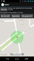 Screenshot of Where is my car (WIMA)