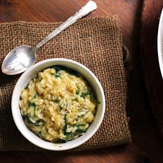 Baby Kale and Creme Fraiche Risotto Recipe