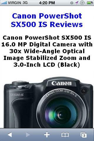 PowerShot SX500 Camera Reviews