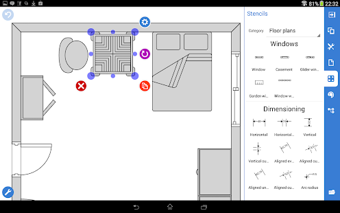 Grapholite floor plans apps on google play for Wedding floor plan app