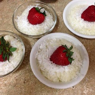 Coconut Tapioca Pudding.