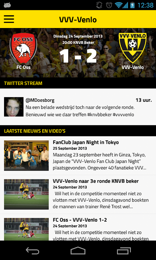 VVV-VENLO LIVE - screenshot