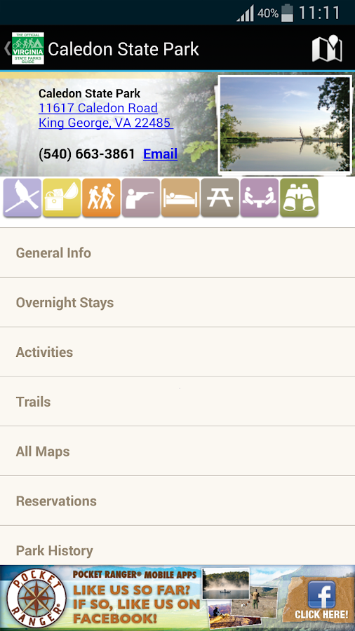 VA State Parks Guide - screenshot