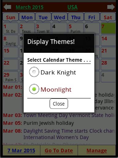 Holiday Calendar