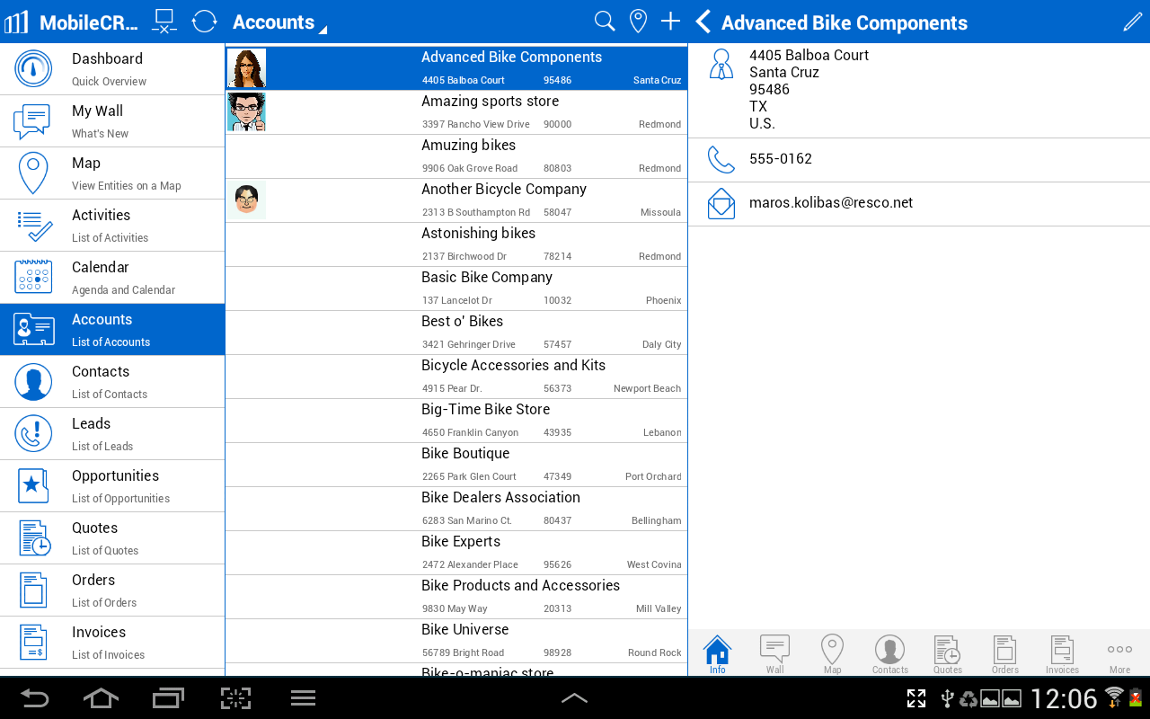 Resco Mobile CRM- screenshot