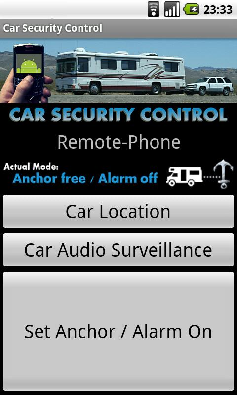 Car Security Control - screenshot