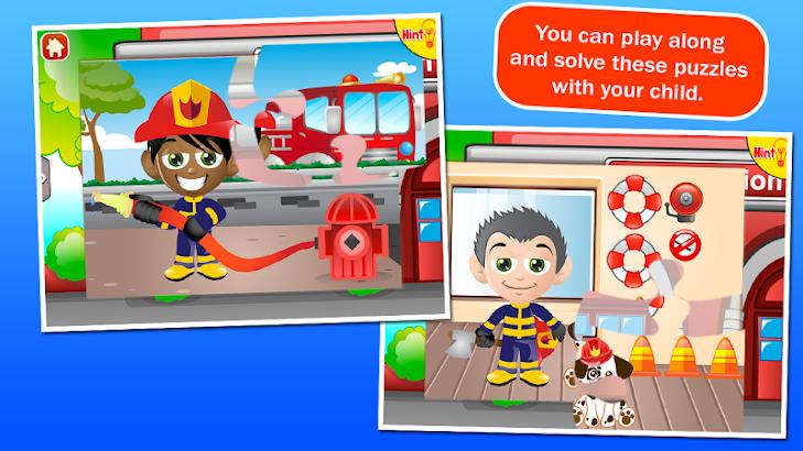 Fireman Kids Puzzles- screenshot thumbnail