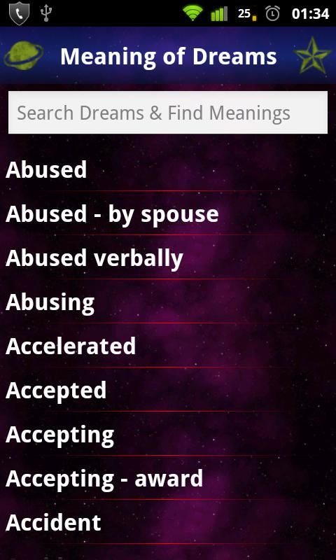 Meanings Of Dreams: Dictionary - screenshot