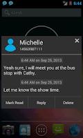 Screenshot of SMS Notifier (SMS Popup)