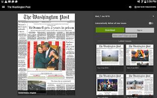 Screenshot of PressReader (preinstalled)