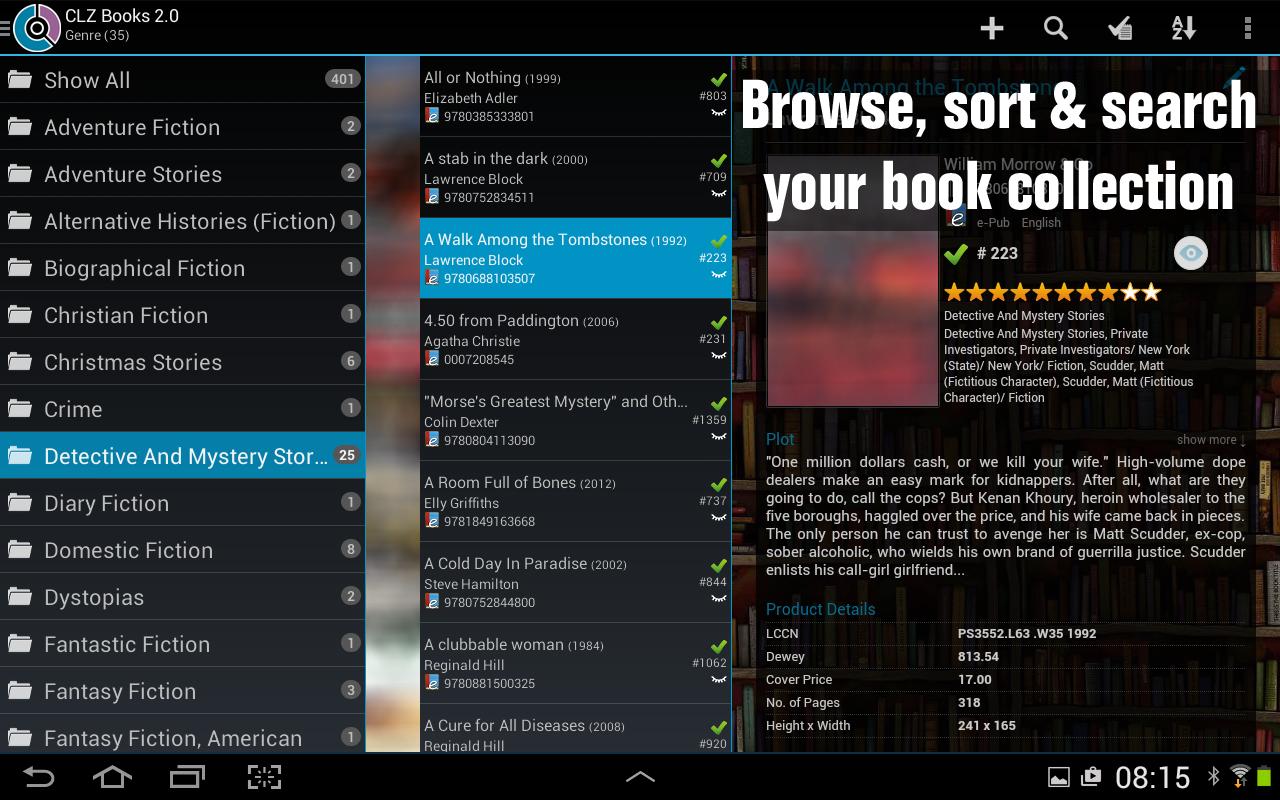 CLZ Books - Book Database - screenshot