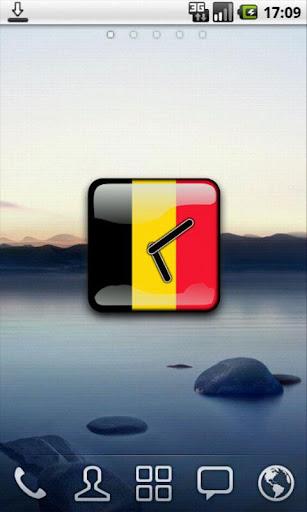 Belgium Flag Clock Widget