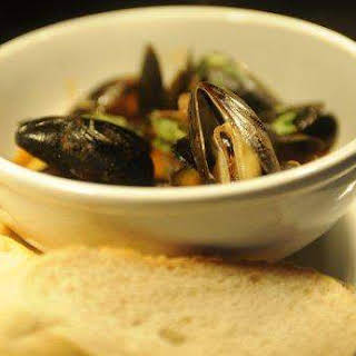 Thai Curry Mussels.