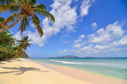 Long Bay Beach on the island of Tortola in the British Virgin Islands.
