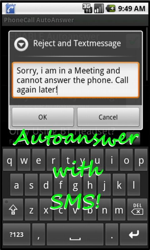 PhoneCall Auto Answer Manager- screenshot