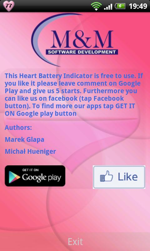 Heart Battery Indicator - screenshot